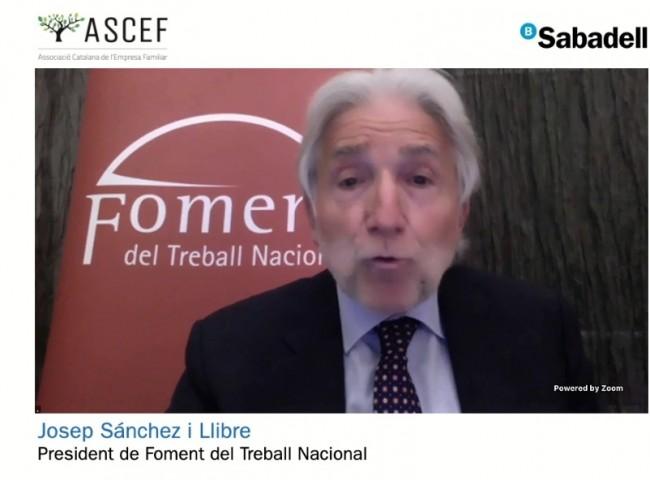 Josep Sánchez i Llibre, president de Foment del Treball Nacional